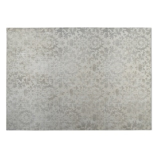 Kavka Designs Grey Faded Damask 2' x 3' Indoor/ Outdoor Floor Mat