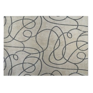 Kavka Designs Tan/ Grey Connecting Vines 2' x 3' Indoor/ Outdoor Floor Mat