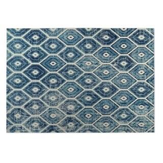 Kavka Designs Denim Hives 2' x 3' Indoor/ Outdoor Floor Mat