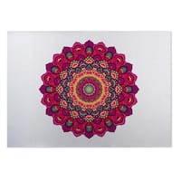 Kavka Designs Pink/ Blue/ Yellow/ Purple Serendipity 2' x 3' Indoor/ Outdoor Floor Mat