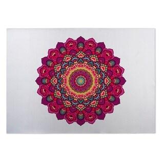 Kavka Designs Pink/ Blue/ Yellow/ Purple Serendipity 2' x 3' Indoor/ Outdoor Floor Mat