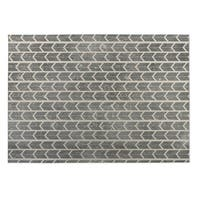 Kavka Designs Tan/ Grey City Rain 2' x 3' Indoor/ Outdoor Floor Mat