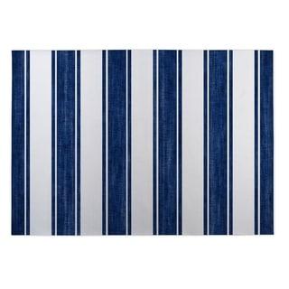 Kavka Designs Blue/ White Nautical Stripe 2' x 3' Indoor/ Outdoor Floor Mat