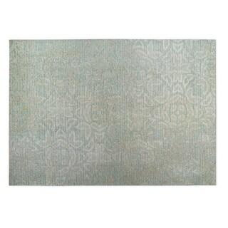 Kavka Designs Grey/ Green Norwich 2' x 3' Indoor/ Outdoor Floor Mat