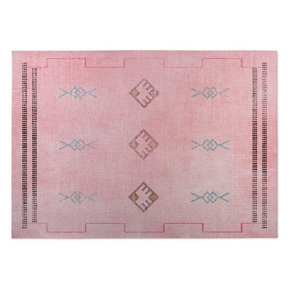 Kavka Designs Pink/ Blue/ Grey Sidra Pink 2' x 3' Indoor/ Outdoor Floor Mat