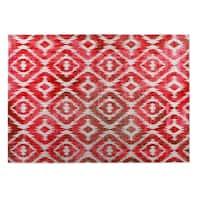 Kavka Designs Red/ Pink Omari Warm Pink 2' x 3' Indoor/ Outdoor Floor Mat