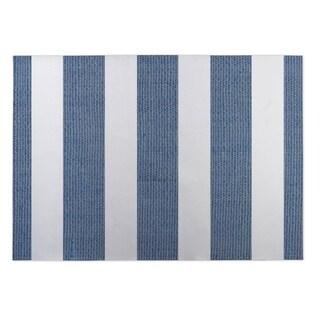 Kavka Designs Blue/ White Centerville Grey-Blue 2' x 3' Indoor/ Outdoor Floor Mat