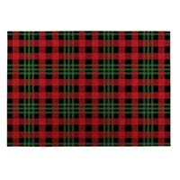 Kavka Designs Red/ Black/ Green Christmas Plaid 2' x 3' Indoor/ Outdoor Floor Mat