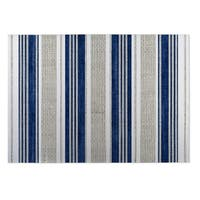 Kavka Designs Blue/ Grey Chatham Tan 2' x 3' Indoor/ Outdoor Floor Mat