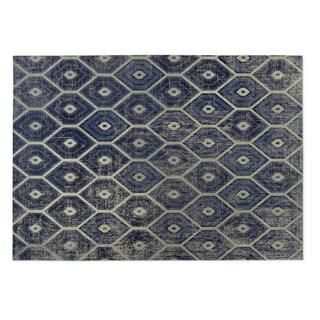 Kavka Designs Navy Hives 2' x 3' Indoor/ Outdoor Floor Mat