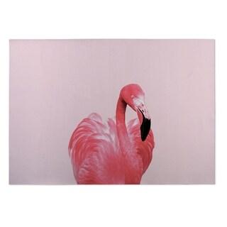 Kavka Designs Pink/ Black Pink Flamingo 2' x 3' Indoor/ Outdoor Floormat