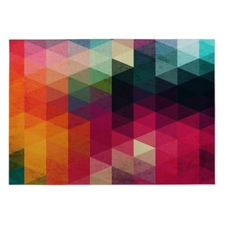 Kavka Designs Red/ Pink/ Orange/ Green/ Blue/ Yellow Many Colors 2' x 3' Indoor/ Outdoor Floor Mat