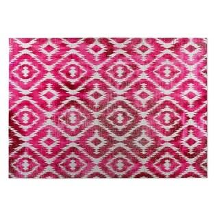 Kavka Designs Pink Omari Pink 2' x 3' Indoor/ Outdoor Floor Mat