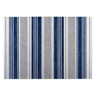 Kavka Designs Blue/ Grey Sagamore Blue 2' x 3' Indoor/ Outdoor Floor Mat