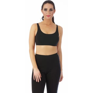 LaMonir Crop Top Sports Bra with 1-inch straps