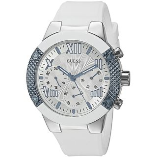 Guess Women's U0772L3 Multi-Function White Silicone Watch