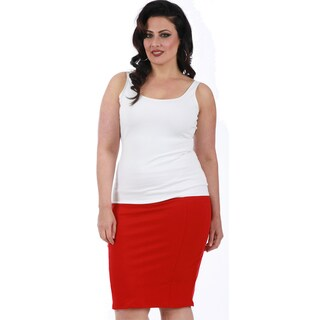 LaMonir Curvy Short Pencil Skirt with Back Zip (3 options available)
