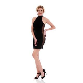 Lamonir Short Dress with Mesh Side Panels