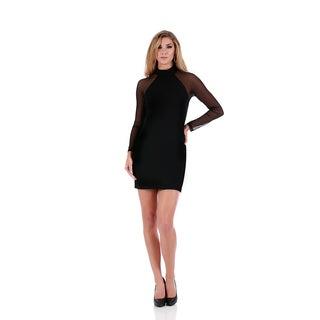 Lamonir Short Dress with Raglan Mesh Sleeves