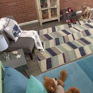 Mohawk Home Bayside Corey Stripe Area Rug (3'5x5'2)