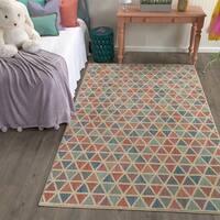Mohawk Home Bayside Diamond Puzzle Area Rug (5'3 x 7'10) - 5'3  x  7'10