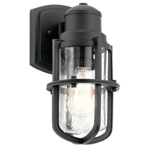 Kichler Lighting Suri Collection 1-light Black Outdoor Wall Sconce