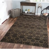 Plaza Arte Brown Area Rug - 7'10 x 10'6