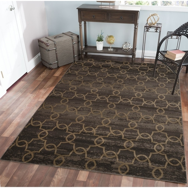 Plaza Arte Brown Area Rug (7'10 x 10'6) - 7'10 x 10'6