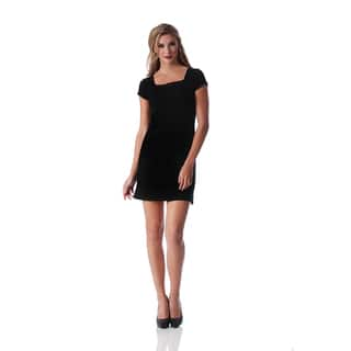Lamonir Short Dress with Cap Sleeve|https://ak1.ostkcdn.com/images/products/17016270/P23296326.jpg?impolicy=medium