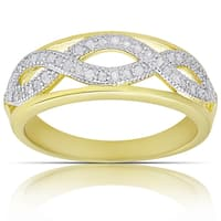 Finesque Gold over Sterling Silver 1/4ct TW Diamond Infinity Design Ring