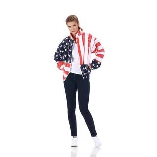 LaMonir American Flag Zip-up Jacket