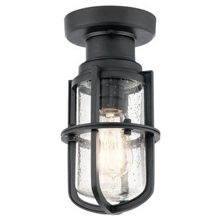 Kichler Lighting Suri Collection 1-light Black Outdoor Flush Mount