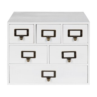 Kate and Laurel Apothecary Wood Desk Drawer Set with Letter Holder
