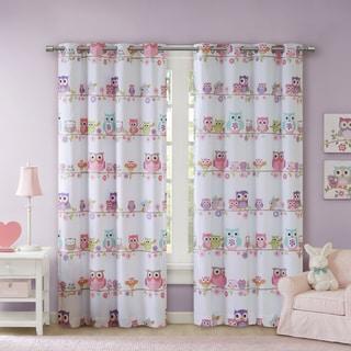 Mi Zone Kids Noctural Nellie Owl Printed Blackout Grommet Curtain Panel