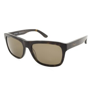 Women's Ferragamo Sunglasses - SF686SP / Frame: Dark Havana Lens: Brown