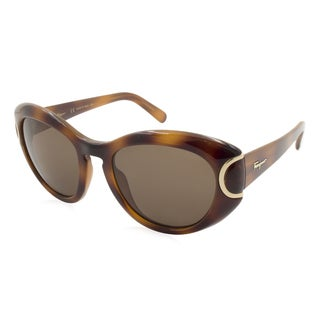 Women's Ferragamo Sunglasses - SF818S / Frame: Havana Lens: Brown