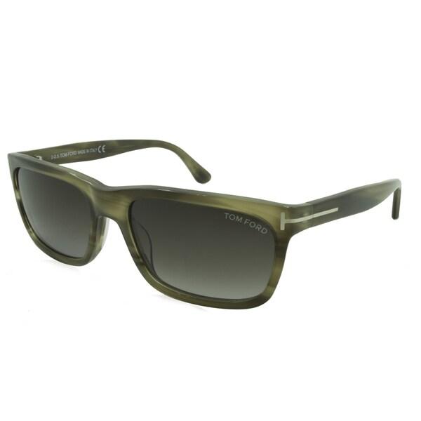 b9a6f009b1 Shop Men s Tom Ford Sunglasses - Hugh   Frame  Gray Horn Lens  Grey ...