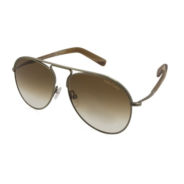 8d0ace70a5c37 Shop Men s Tom Ford Sunglasses - Cody   Frame  Matte Gold  Brown ...