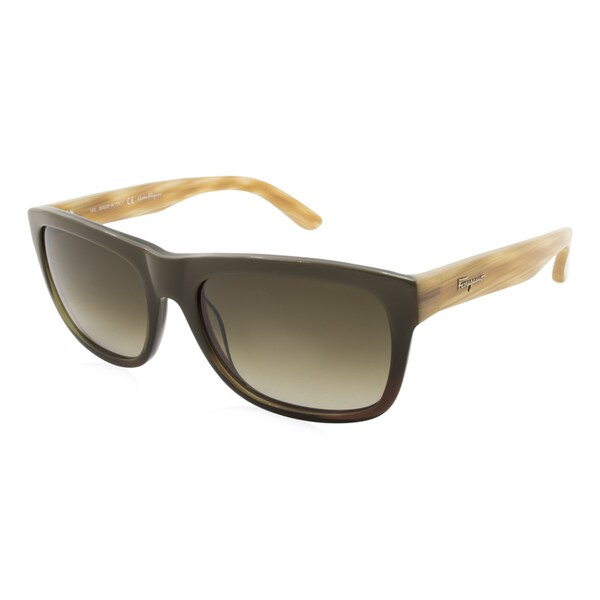 1ff7e8a0a60 Shop Women s Ferragamo Sunglasses - SF686S   Frame  Green Lens  Green  Gradient - Free Shipping Today - Overstock.com - 17016825