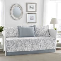 Laura Ashley Amberley Blue Daybed Cover 5-piece Set
