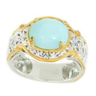Michael Valitutti Palladium Silver Blue Opal Solitaira Ring