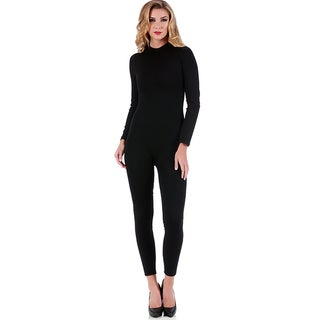 LaMonir Mock-neck Pant Jumpsuit (Option: L)