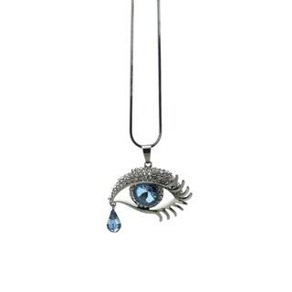 Eye Candy LA 15 inch Austrian Stones Eye Motif Necklace