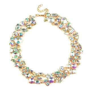 Eye Candy LA 12 inch Metallic Candy Statement Necklace