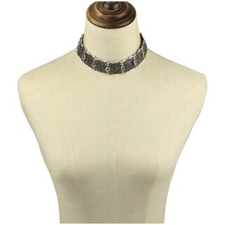 Eye Candy LA 6 inch Beaded Detailed Choker Necklace