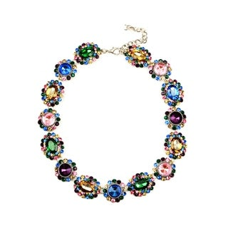 Eye Candy LA 14 inch Multicolor Sweet Treat Stone Wreath Necklace