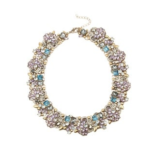 Eye Candy LA 10 inch Lavender Glam Stone Wreath Necklace