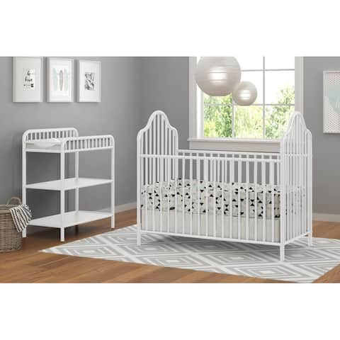 Little Seeds Rowan Valley Lanley Metal Crib and Changing Table Set