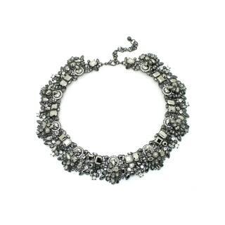 Eye Candy LA 10 inch Silver Metallic Rhinestone Wreath Necklace|https://ak1.ostkcdn.com/images/products/17018010/P23297880.jpg?impolicy=medium