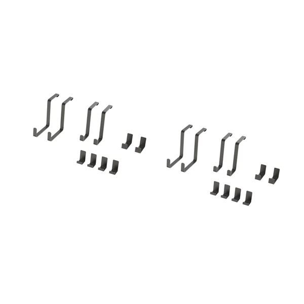 NewAge Products VersaRac 20-piece Accessory Kit (2xS-Hooks, 2xJ-Hooks)